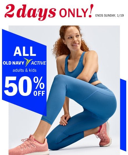 All Old Navy Active 50% Off