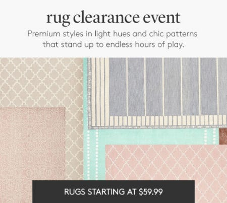 Rugs Starting at $59.99 from Pottery Barn Kids