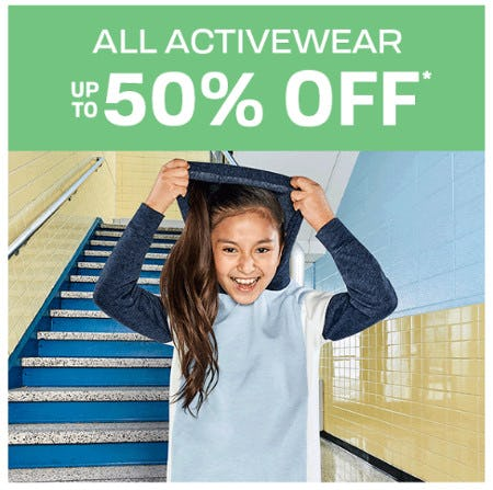 All Activewear Up to 50% Off from The Children's Place
