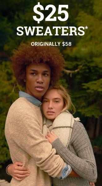 $25 Sweaters