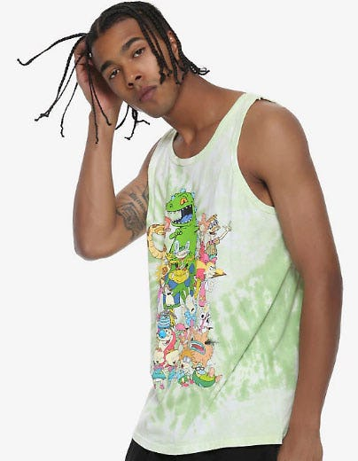 Nickelodeon Retro Tie Dye Tank Top from Hot Topic
