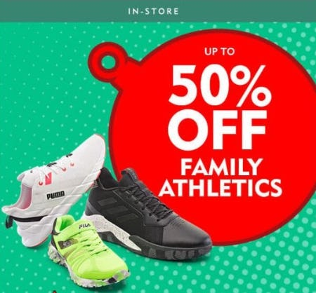 Up to 50% Off Family Athletics from Shoe Carnival