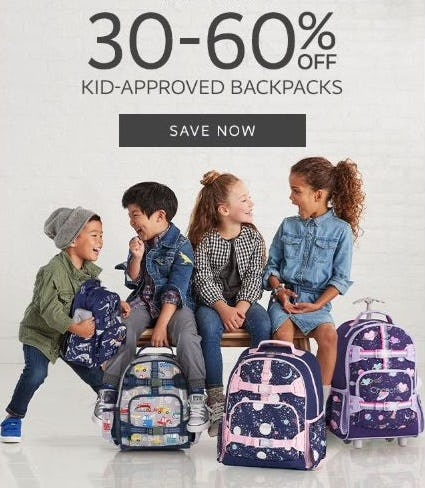 30–60% Off Kid-Approved Backpacks from Pottery Barn Kids
