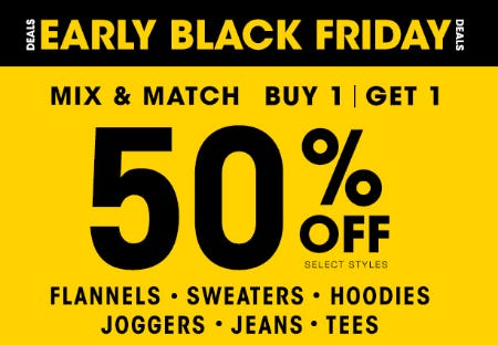 Buy 1, Get 1 50% Off from Tillys
