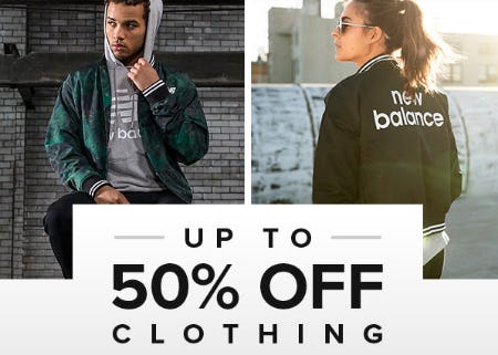 Up to 50% Off Clothing from New Balance