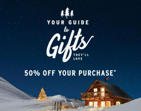 50% Off Your Purchase from Eddie Bauer