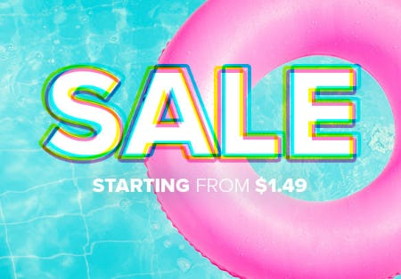 Sale Starting from $1.49