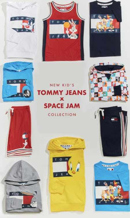 New Kid's Tommy Jeans x Space Jam Collection from EbLens Clothing and Footwear