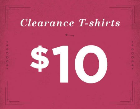 $10 Clearance T-Shirts from Earthbound Trading Company