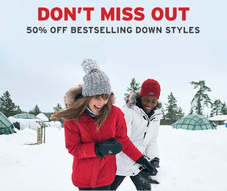 50% Off Bestselling Down Styles from Eddie Bauer