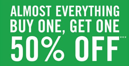 BOGO 50% Off Almost Everything