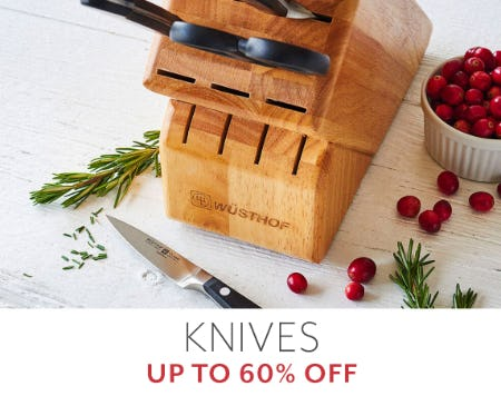 Up to 60% Off Knives from Sur La Table
