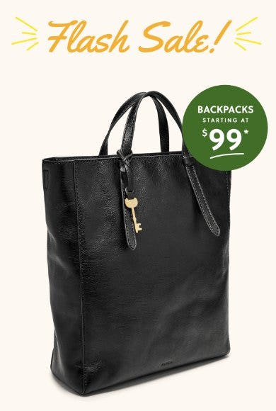 Backpacks Starting at $99 from Fossil