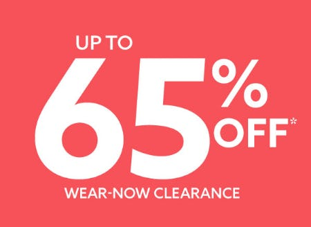 Up to 65% Off Wear-Now Clearance from Lord & Taylor