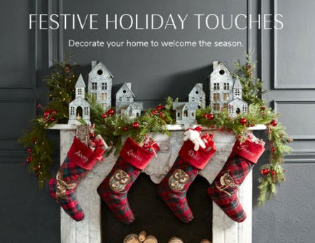Festive Holiday Touches from Pottery Barn