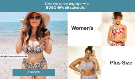 BOGO 50% Off Swimsuits