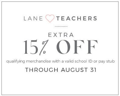 Extra 15% Off Qualifying Merchandise from Lane Bryant