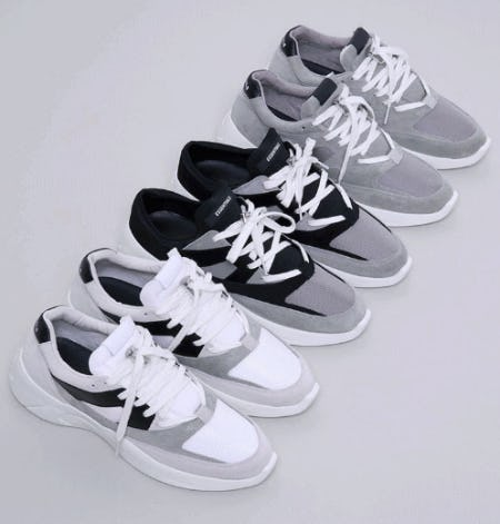 New FOG Essentials Sneakers from Pacific Sunwear