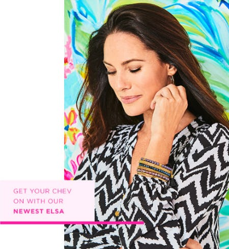 The New Elsa Silk Top from Lilly Pulitzer