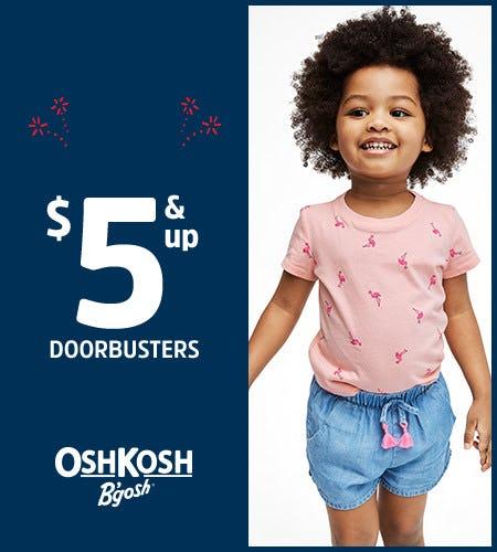$5 and up Doorbusters from Oshkosh B'gosh