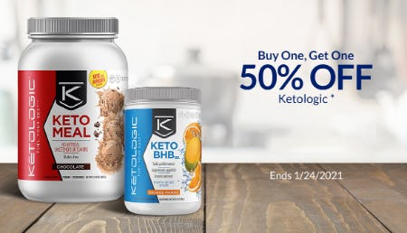 BOGO 50% Off KetoLogic from The Vitamin Shoppe