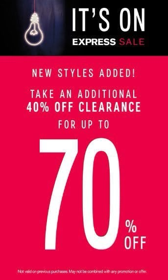 Additional 40% Off Clearance for up to 70% Off
