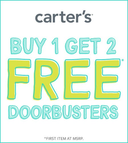 Buy One Get Two Free Doorbusters from Carter's