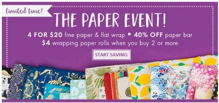 The Paper Event from Paper Source