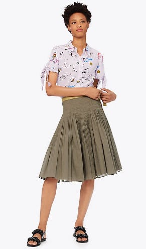 b88725dcac8 The Pleated Skirt at Tory Burch