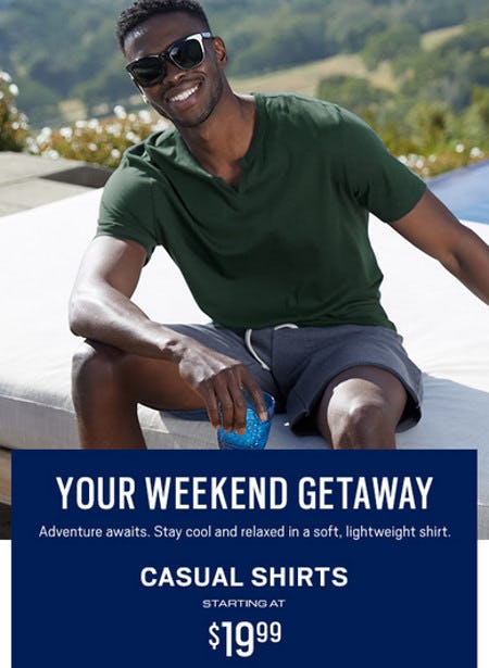 Casual Shirts Starting at $19.99 from Men's Wearhouse