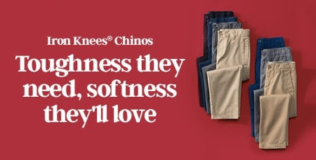 Iron Knees® Chinos from Lands' End