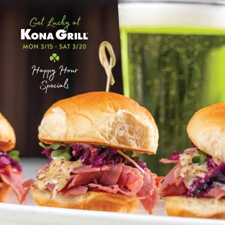 Saint Patrick's Week at Kona Grill from Kona Grill