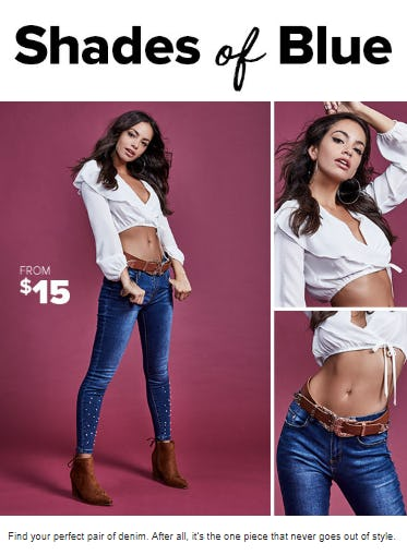 Jeans from $15 from Rainbow
