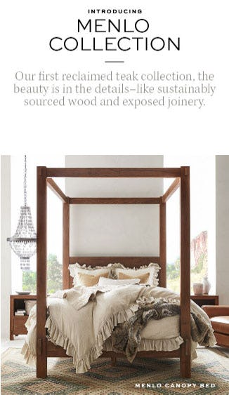 Introducing Menlo Collection from Pottery Barn