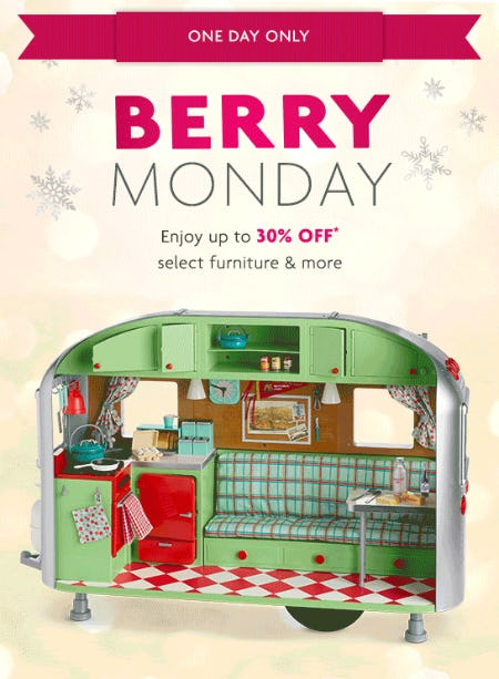 Up to 30% Off on Select Furniture & More from American Girl