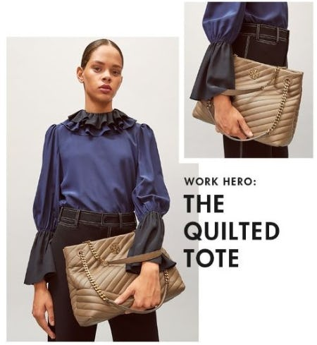 The Quilted Tote from Tory Burch