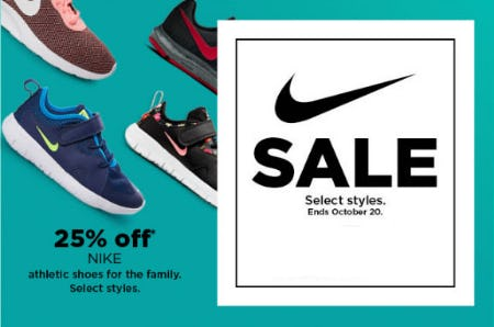 25% Off Nike Athletic Shoes from Kohl's