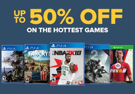 Up to 50% Off on the Hottest Games
