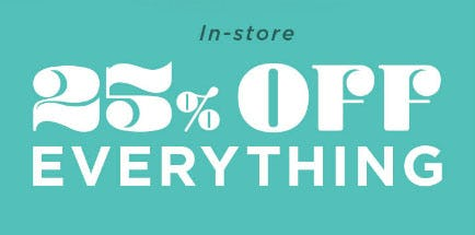 25% Off Everything from Earthbound Trading Company