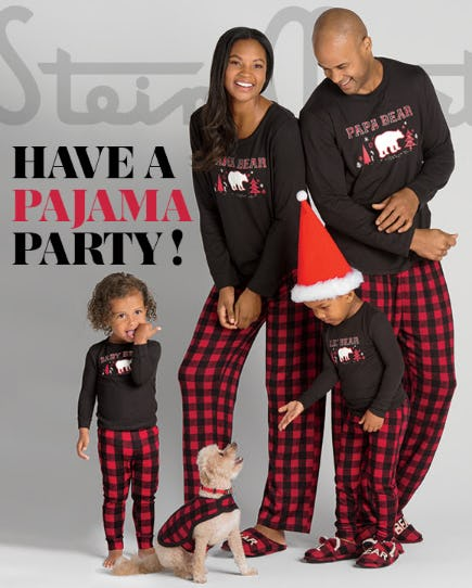Family Holiday PJs from Stein Mart