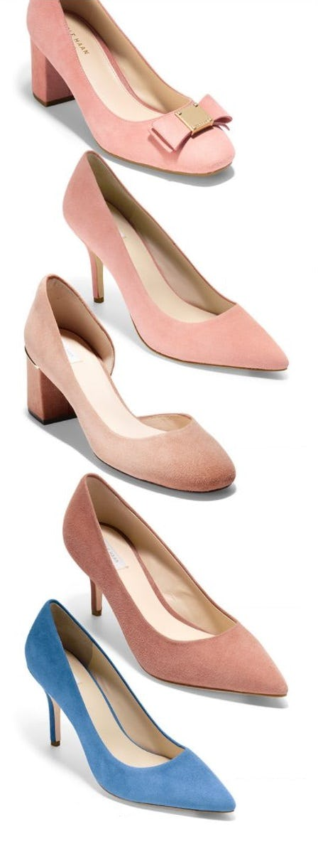New Soft Suede Pumps for Spring from Cole Haan
