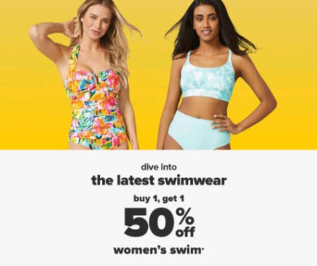 B1G1 50% Off Women's Swim from Belk