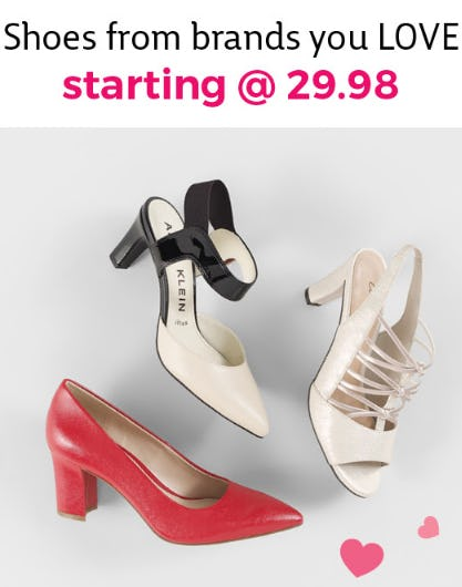 Shoes from Brands You Love, Starting at $29.98 from Stein Mart