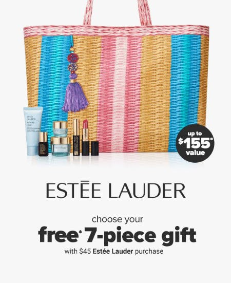 Free Gift with $45 Estee Lauder Purchase from Belk