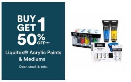 B1G1 50% Off Liquitex Acrylic Paints & Mediums from Michaels