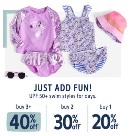 Up to 40% Off UPF 50+ Swim Styles from Oshkosh B'gosh