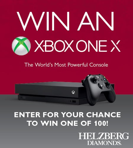 Enter to Win*  Xbox One X in Sweepstakes