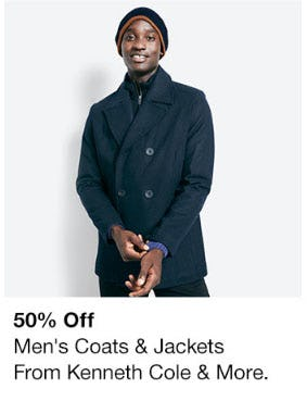 50% Off Men's Coats & Jackets from macy's