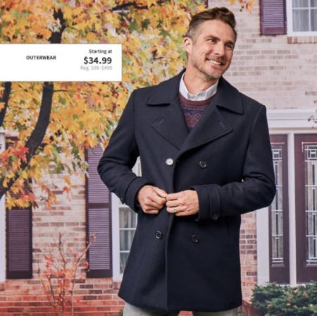 Outerwear Starting at $34.99 from Jos. A. Bank