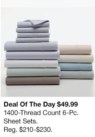 $49.99 1400-Thread Count 6-Pc. Sheet Sets from macy's